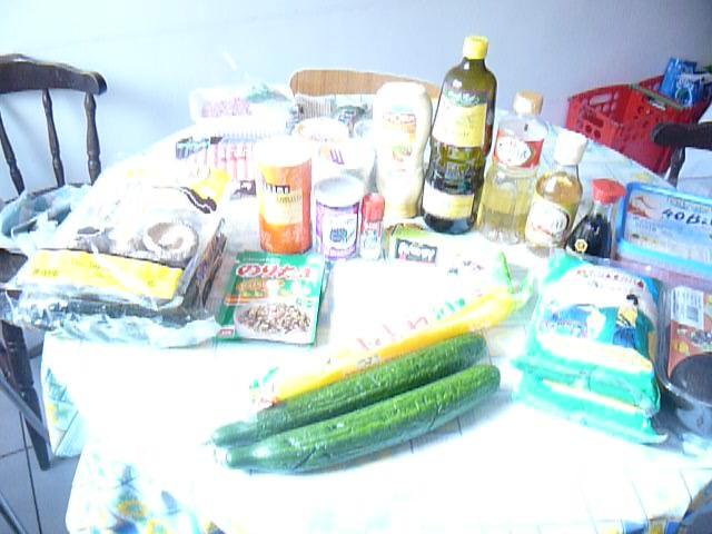 Ingrédients pour faire des sushis